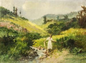 NEOGRÁDY Antal, Fetiță la râu [0]