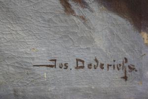 Josef DEDERICHS, Peisaj hibernal cu cruce1
