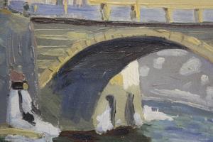 BARABÁS Márton Márkusfalvi, Peisaj cu pod, 19221