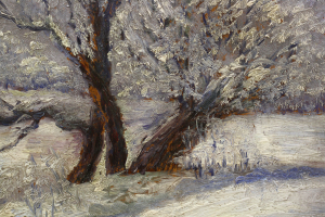 Letiția ALEXANDRU STAMATIAD, Peisaj de iarnă cu copaci1