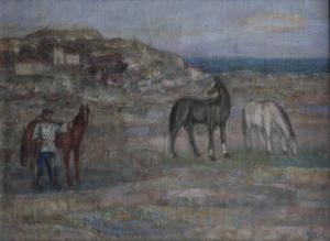 Gheorghe GHERMAN, Țăran cu cai la câmp0