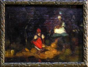 Teodor HARȘIA, Fetiță în pădure2