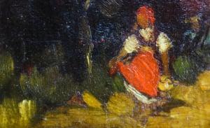 Teodor HARȘIA, Fetiță în pădure1