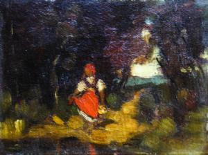 Teodor HARȘIA, Fetiță în pădure0