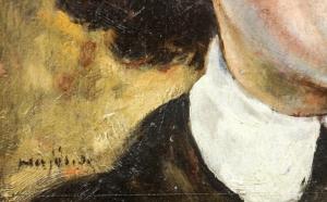 HAJÓS Imre László, Portret de doamnă / domnișoară (pictat față / verso)3