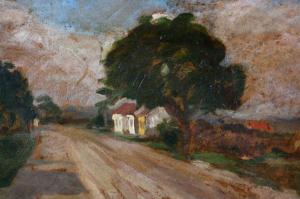 MACALIK Alfréd, Uliță de sat transilvănean,19421