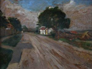 MACALIK Alfréd, Uliță de sat transilvănean,19420