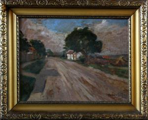 MACALIK Alfréd, Uliță de sat transilvănean,19423
