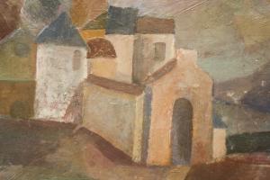 Gheorghe GHERMAN,  Peisaj cu case pe deal1