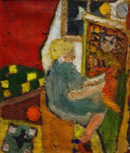 URSZINYI Mária, Pictoriță în atelier0