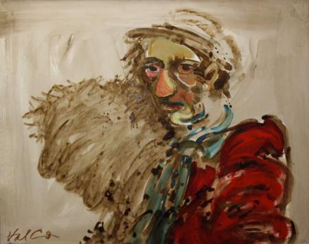 Valentin CODOIU, Portret cu haină roșie0