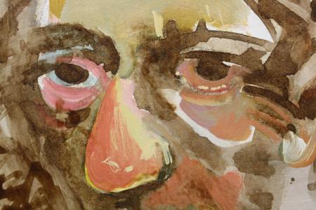Valentin CODOIU, Portret cu haină roșie1