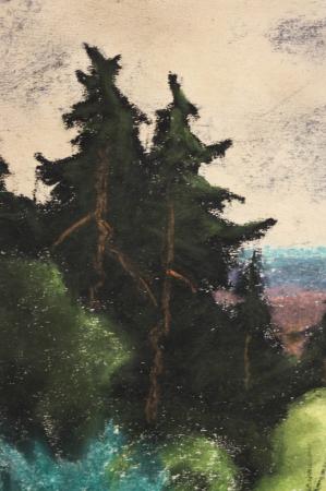 SZTELEK Norbert, Peisaj cu casă în pădure I Pădure [2]