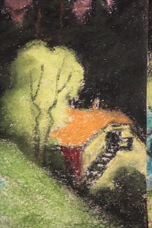 SZTELEK Norbert, Peisaj cu casă în pădure I Pădure [3]