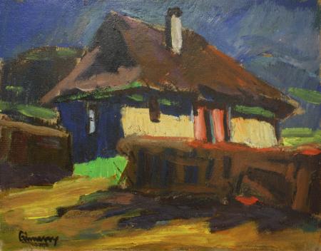 GYIMESI (GYIMESSY) KOVÁCS Gábor, Peisaj cu casă [0]