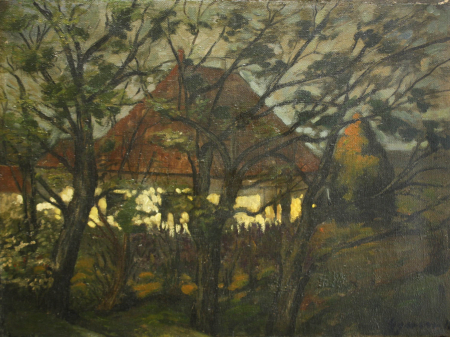 GYIMESI (GYIMESSY) KOVÁCS Gábor, Peisaj cu casă la amurg [0]