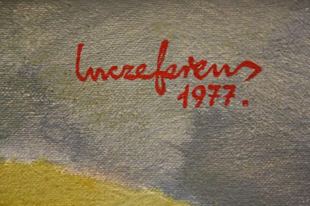 INCZE Ferenc, Peisaj suprarealist cu ceainic de porțelan, 1977 [1]