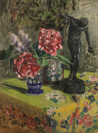 MIKES MÜNICH Ödön, Still Life with Flowers and Greek Rotary, 1905 [0]