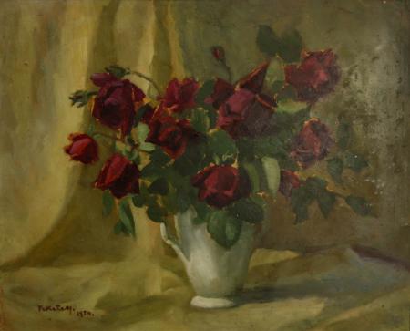 FEKETE Margit, Natură statică cu trandafiri roșii, 1954 [0]