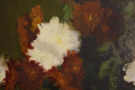 FEKETE Margit, Aranjament floral cu carte, 1950 [1]