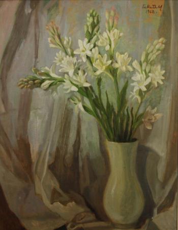 FEKETE Margit, Natură statică cu flori, 1962 [0]