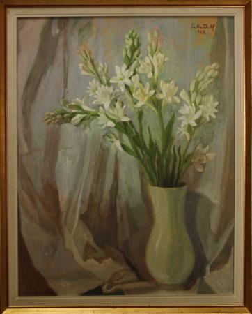 FEKETE Margit, Natură statică cu flori, 1962 [3]