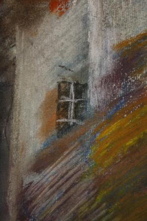 TAMÁS Laura, Peisaj de toamnă cu case, 2000 [1]