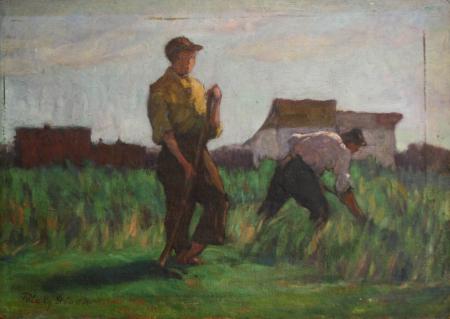 PATAKY  Sándor, Țărani muncind [0]