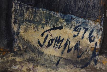 TOMPA Mihai, Peisaj aerian cu case, 1976 [2]