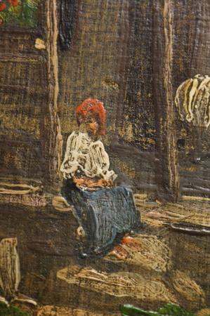 ZSIGMOND Béla, Țărancă pe prispă [1]