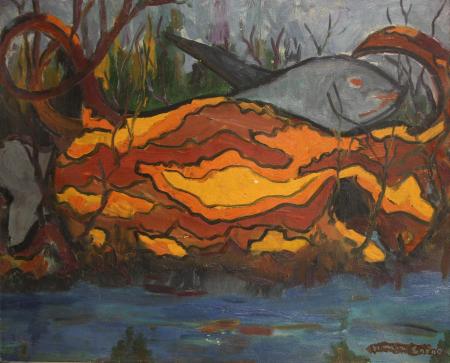 SIMON Endre, Peisaj acvatic cu pești [0]