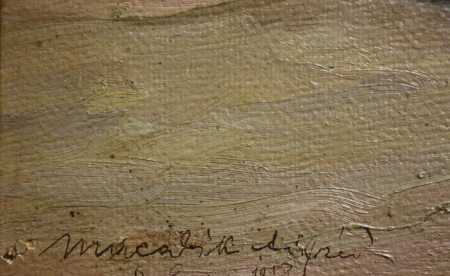 MACALIK Alfréd, Peisaj cu șir de case la Szolnok, 1917 [2]