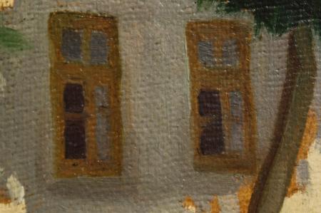 MACALIK Alfréd, Peisaj cu șir de case la Szolnok, 1917 [1]