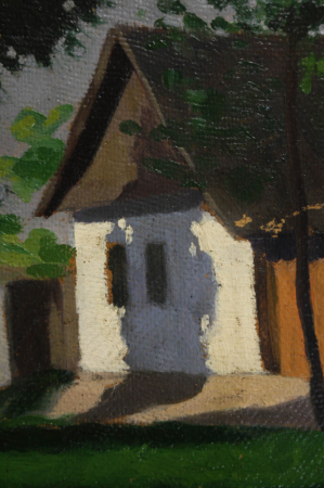 MACALIK Alfréd, Peisaj cu case la Szolnok, 1917 [2]