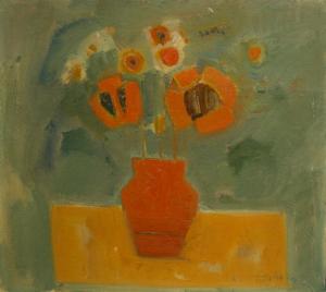 Teodor BOTIȘ, Natură statică cu flori, 19740