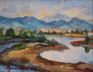 AGRICOLA Lidia, Peisaj pe malul Săsarului0