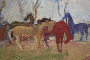 Traian GOGA, Peisaj cu cai, 19761