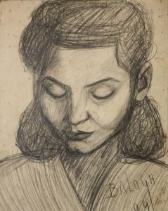 BALOGH Péter, Portretul soției / Portret de bărbat, 19400