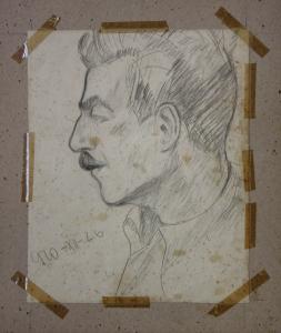 BALOGH Péter, Portretul soției / Portret de bărbat, 19403