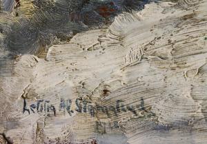 Letiția ALEXANDRU STAMATIAD, Peisaj de iarnă cu copaci2