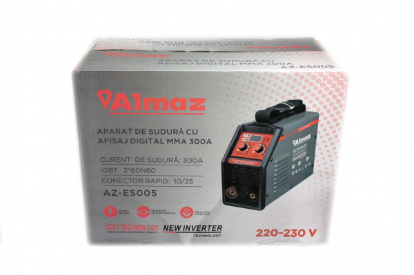 Aparat Sudura ALMAZ MMA 300A ( AZ-ES005 ) + Accesorii , Invertor , Model nou 12