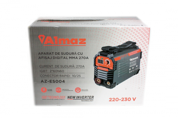 Aparat Sudura ALMAZ 270A ( AZ-ES004 ) + Accesorii , Invertor , Model nou 11