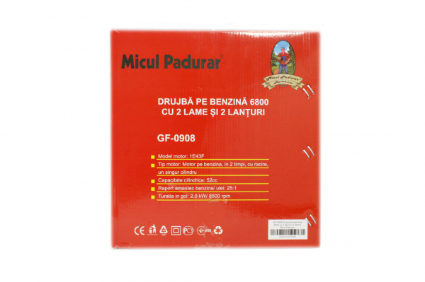 DRUJBA MICUL PADURAR 6800 METALIC, 3CP, 2 LAME + 2 LANTURI [11]