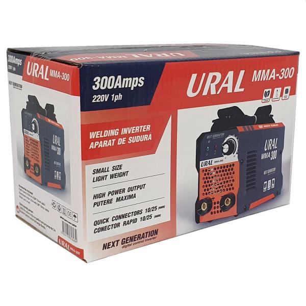 Aparat de sudura ( Invertor ) URAL MMA 300, Cablu 3m, Next Generation 2