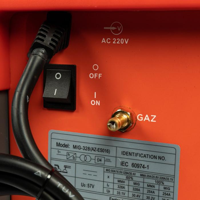 Aparat de sudura MIG / MMA MIG-328, 328A Almaz AZ-ES016, diametru electrod 1.6 - 4mm [6]