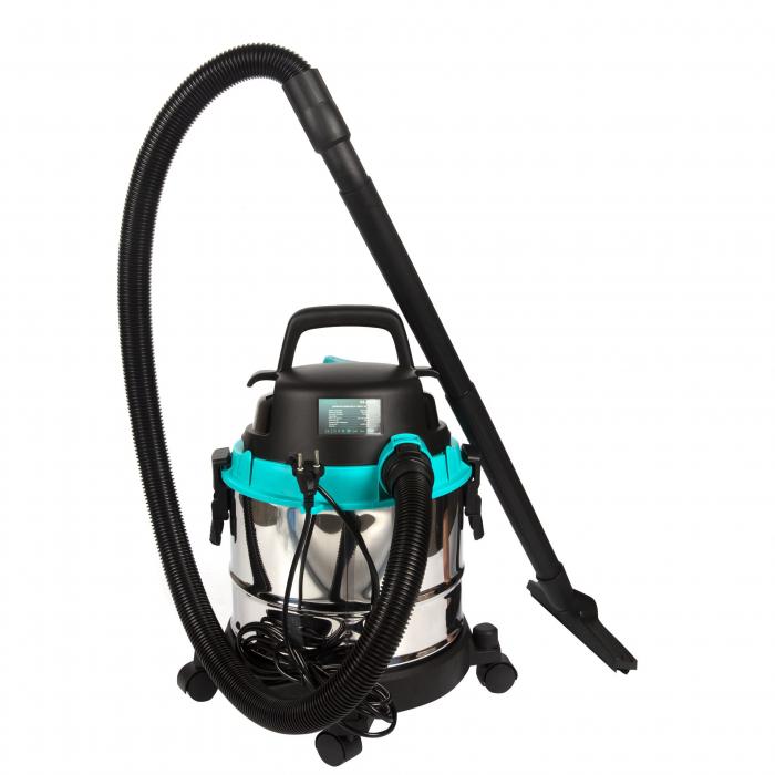 Aspirator umed / uscat Detoolz 1250W, Inox, 25L 3