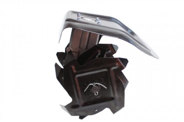 Cultivator adaptor pentru motocositoare cu transmisie pe 9 pini, sapa pentru prasit adaptat pentru motocositoare 28 mm 4
