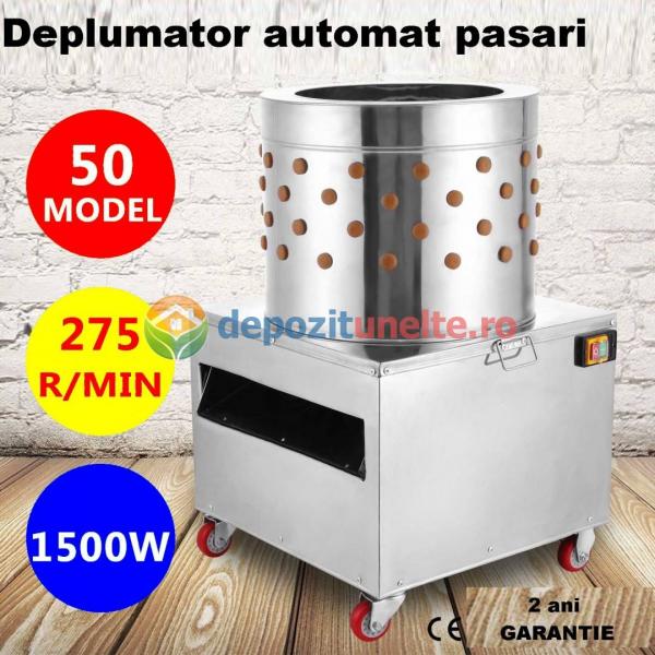 Deplumator electric automat PROFESIONAL jumulitor pentru pasari 230V - 1500W 0