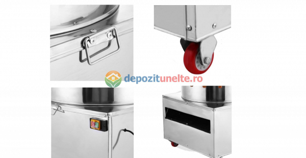 Deplumator electric automat PROFESIONAL jumulitor pentru pasari 230V - 1500W 8