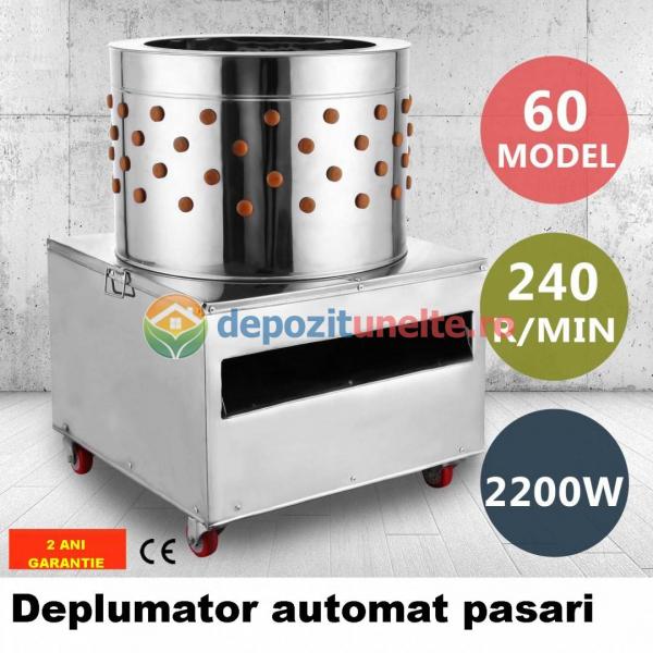Deplumator electric automat PROFESIONAL jumulitor pentru pasari 230V - 2200W 0